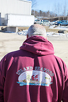 Mark Barlow is the co-owner of Island Seafood, a lobster dealer in Eliot, Maine, USA, seen outside Island Seafood's packaging facility, on Wed., Jan. 18, 2018.