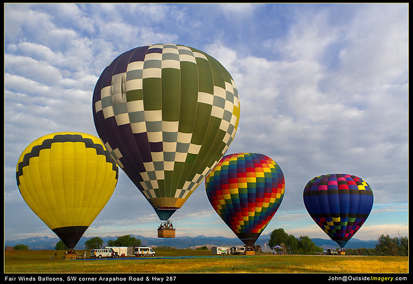 Boulder photo tours. Hot Air Balloons Colorado tours by Outside Imagery.