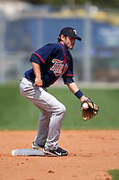 March 18, 2010:  Second Baseman Drew Thompson (18) of the Minnesota Twins organization during Spring Training at the Ft. Myers Training Complex in Ft. Myers, FL.  Photo By Mike Janes/Four Seam Images