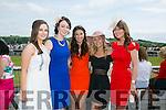 Enjoying the Listowel Races Ladies Day on Sunday were l-r  Deirdre Cummins, Siobhan Murphy, Elaine Stryker, Katie Daly and Emer Glare, Abbeyfeale
