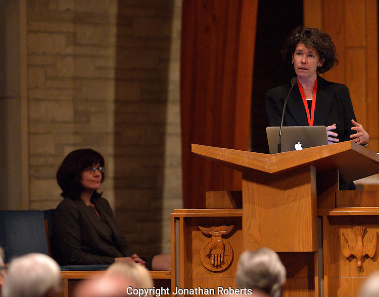 "Grawemeyer Award winner Tanya Luhrmann discusses her book ""When God Talks Back"" at Louisville Seminary."