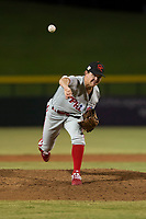 Scottsdale Scorpions relief pitcher Seth McGarry (72), of the Philadelphia Phillies organization, delivers a pitch during an Arizona Fall League game against the Mesa Solar Sox at Sloan Park on October 10, 2018 in Mesa, Arizona. Scottsdale defeated Mesa 10-3. (Zachary Lucy/Four Seam Images)