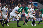 17th March 2018, Twickenham, London, England; NatWest Six Nations rugby, England versus Ireland; George Ford passes the ball to Joe Launchbury of England