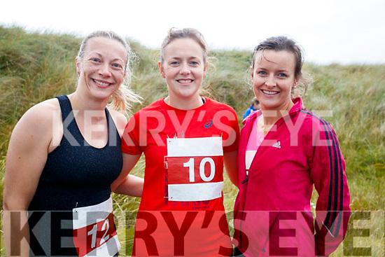 Caroline Houlihan, Hannah McCarthy, Abbeydorney and Rosemary Sheey, Ballyduff pictured at the Banna 10K run on Sunday morning.