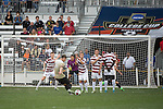 HOUSTON, TX - DECEMBER 11:  Andrew Epstein (1) of Stanford await a free kick from Ian Harkes (16) of Wake Forest University during the Division I Men's Soccer Championship held at the BBVA Compass Stadium on December 11, 2016 in Houston, Texas.  Stanford defeated Wake Forest 1-0 in a penalty shootout for the national title. (Photo by Justin Tafoya/NCAA Photos via Getty Images)