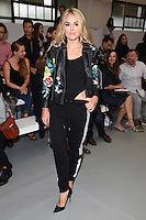 Tallia Storm<br /> at the Eudon Choi catwalk show as part of London Fashion Week SS17, Brewer Street Car Park, Soho London<br /> <br /> <br /> &copy;Ash Knotek  D3155  16/09/2016