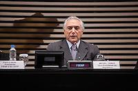 SAO PAULO, 17 DE MAIO DE 2012 - VICE PRESIDENTE MICHEL TEMER NA FIESP - O vice presidente da republica, Michel Temer, durante a reunião ordinária do Comite de Jovens Empreendedores da FIESP na tarde desta quinta feira em são paulo - FOTO: ADRIANA SPACA - BRAZIL PHOTO PRESS