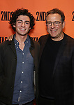 Michael Greif and son attends the Off-Broadway Opening Night performance of the Second Stage Production on 'Torch Song'  on October 19, 2017 at Tony Kiser Theater in New York City.