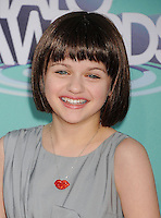 HOLLYWOOD, CA - OCTOBER 26: Joey King arrives at the 3rd Annual TeenNick HALO Awards at Hollywood Palladium on October 26, 2011 in Hollywood, California. /NortePhoto.com<br />