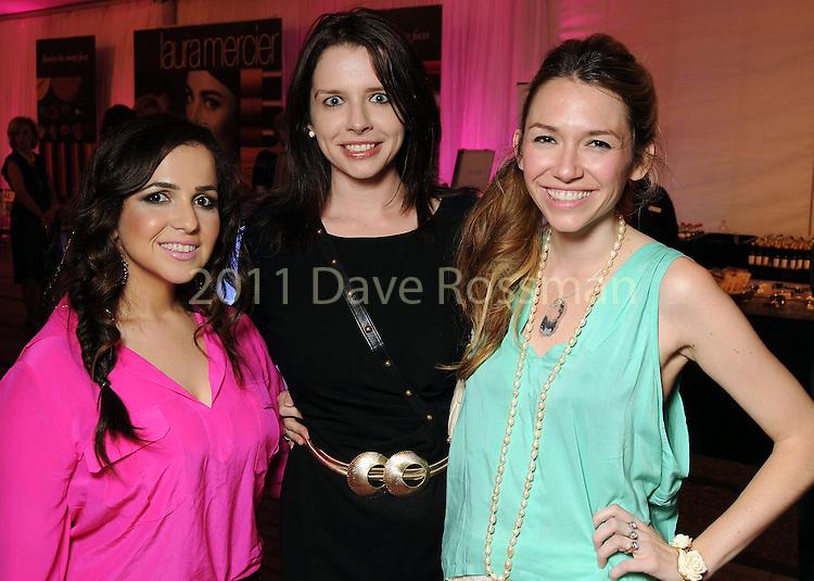 From left: Shiva Rafferty, Heather Pray and Lauren Pray at the second night of Fashion Houston at the Wortham Theater Monday Oct. 10,2011.(Dave Rossman/For the Chronicle)
