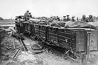 BNPS.co.uk (01202 558833)<br /> Pic: BNPS.<br /> <br /> The trains pulled troops and munitions up to the front line.<br /> <br /> Old War Horse...back on track.<br /> <br /> The last surviving armoured locomotive used to pull munitions to the front line in World War One has been painstakingly restored a century later.<br /> <br /> Volunteers at the Greensand Trust based in Leighton Buzzard have spent the past decade bringing the historic Simplex 40HP engine back to full working order as part of a £20,000 project.<br /> <br /> The 8ft high, 10ft long loco, resembling a tank, was built in Bedford in 1917 and encased in full armour plating to protect it's plucky driver from enemy shell fire on the Western Front.<br /> <br /> It's petrol engine made it more discreet to use at night close to the front line than larger, noisier and more visible steam trains, which were easier targets for the German guns.<br /> <br /> In a world before health and safety the brave driver sat on the noisy engine, with the petrol tank and a radiator next to him in a fume filled cabin - but despite these privations he was infinitely safer inside than out.