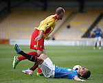 Ian Black pushed over by Kevin Nicholl