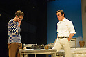 London, UK. 31.05.2016. SUNSET AT THE VILLA THALIA, by Alexei Kaye Campbell, opens at the Dorfman, at the National Theatre. Directed by Simon Godwin. Picture shows: Sam Crane (Theo), Ben Miles (Harvey). Photograph © Jane Hobson.