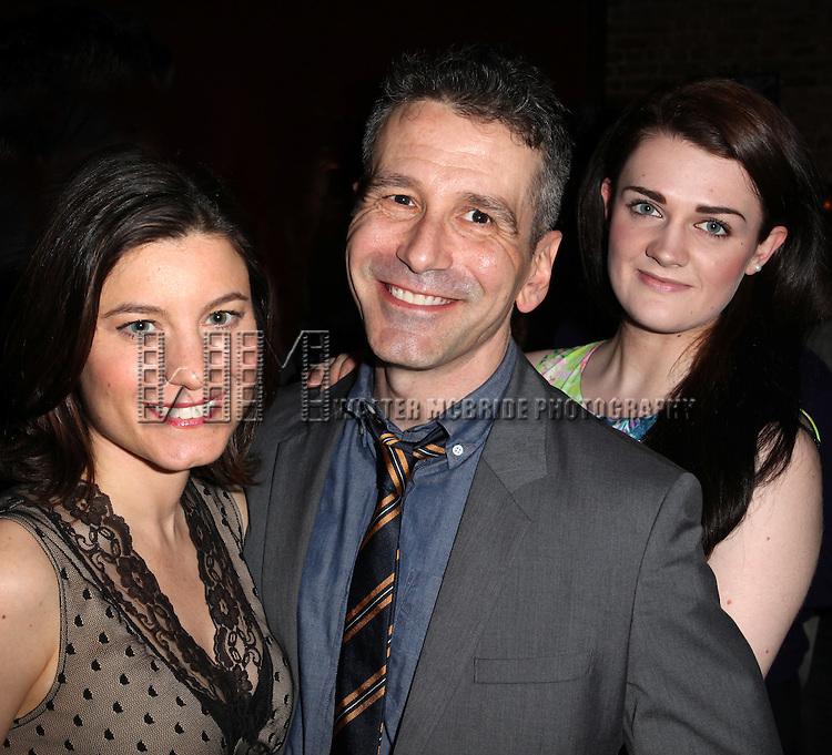Susan Pourfar, David Cromer & Gayle Rankin.attending the New York Drama Critics' Circle Awards at Angus McIndoe in New York City on 5/14/2012.
