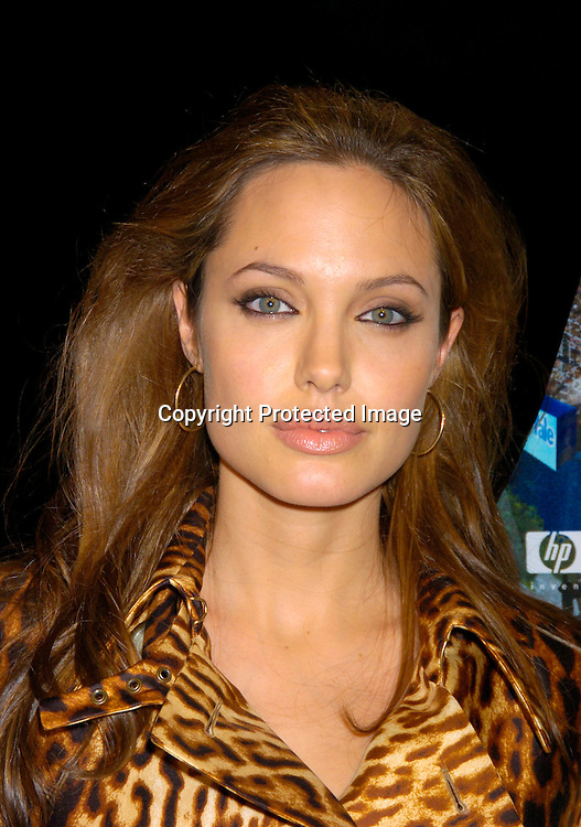 """Angelina Jolie ..at the New York Premier of """"Shark Tale"""" on September 27. 2004 at the Delacorte Theatre in Central Park. ..Photo by Robin Platzer, Twin Images"""