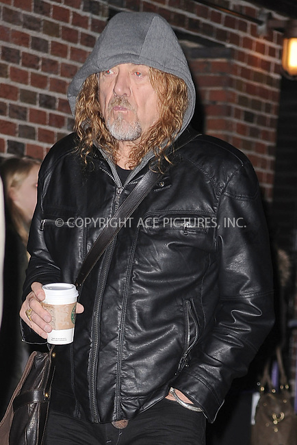 WWW.ACEPIXS.COM . . . . . .January 31, 2011...New York City... Robert Plant tapes the Late Show with David Letterman on January 31, 2011 in New York City....Please byline: KRISTIN CALLAHAN - ACEPIXS.COM.. . . . . . ..Ace Pictures, Inc: ..tel: (212) 243 8787 or (646) 769 0430..e-mail: info@acepixs.com..web: http://www.acepixs.com .