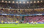 Solna 2015-09-08 Fotboll EM-kval , Sverige - &Ouml;sterrike :  <br /> Vy &ouml;ver Friends Arena med publik p&aring; l&auml;ktarna under matchen mellan Sverige och &Ouml;sterrike <br /> (Photo: Kenta J&ouml;nsson) Keywords:  Sweden Sverige Solna Stockholm Friends Arena EM Kval EM-kval UEFA Euro European 2016 Qualifying Group Grupp G &Ouml;sterrike Austria supporter fans publik supporters inomhus interi&ouml;r interior