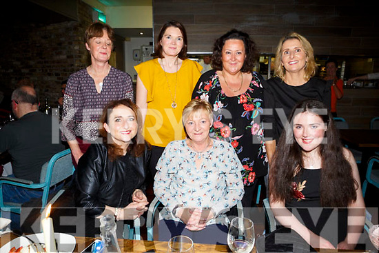 Theresa O'Donoghue celebrating a spiecial Bl-r birthday with friends at No. 4 the Square on Saturday front Mary Claire Crosby,  Theresa O'D onoghue, Molly Clifford, Back l-r Joan Moriarty, Sarah Long, Suzanne Murphy and Sarah Quirke