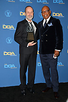 LOS ANGELES, CA. February 02, 2019: John Landgraf & Paris Barclay at the 71st Annual Directors Guild of America Awards at the Ray Dolby Ballroom.<br /> Picture: Paul Smith/Featureflash