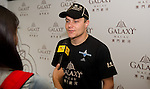 Galaxy Double R Racing Team driver Valtteri Bottas is interviewed before the 2011 Macau Formula 3 Grand Prix on 20th November 2011. © Raf Sanchez / PSI for Galaxy Macau