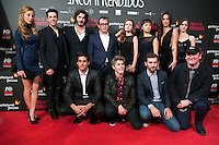"The crew of the Movie attend the Premiere of the movie ""El club de los incomprendidos"" at callao Cinema in Madrid, Spain. December 1, 2014. (ALTERPHOTOS/Carlos Dafonte) /NortePhoto<br />