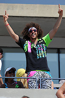 August 29, 2012: Stefan Kendal Gordy, aka Redfoo of LMFAO watching the Fish Vs Davydenko match at Arthur Ashe Stadium at the USTA Billie Jean King National Tennis Center in New York City. ..© mpi04 / Mediapunchinc /NortePhoto.com<br />
