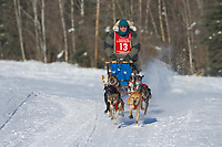 Musher Ed Arobio, 2007 Limited North American Championship Sled dog race in Fairbanks, Alaska.