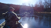 NWA Democrat-Gazette/FLIP PUTTHOFF <br /> Sunshine warmed a chilly day Dec. 30 2016 during a canoe trip on the White River below Beaver Dam.
