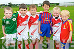 GAA stars in the making at the Causeway Cúl Camp last week. .L-R Conor Donegan, Keith Cotter, Cathal Gibbons, Evan Boyle, Anna McCarthy and Luke Rochford.