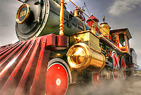 Locomotive #119 - Golden Spike NHS - Utah. Transcontinental Railroad History