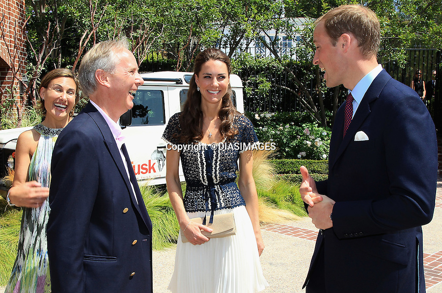 """PRINCE WILLIAM & KATE - CALIFORNIA, USA.Catherine, Duchess of Cambridge meets Chief Executive of Tusk Trust Charlie Mayhew as she attends a reception to mark the Launch of Tusk Trust's US Patron's Circle, Beverly Hills_10/07/2011.Mandatory Credit Photo: ©DIASIMAGES. .**ALL FEES PAYABLE TO: """"NEWSPIX INTERNATIONAL""""**..IMMEDIATE CONFIRMATION OF USAGE REQUIRED:.DiasImages, 31a Chinnery Hill, Bishop's Stortford, ENGLAND CM23 3PS.Tel:+441279 324672  ; Fax: +441279656877.Mobile:  07775681153.e-mail: info@newspixinternational.co.uk"""