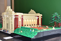 BNPS.co.uk (01202 558833)<br /> Pic: CWGC/BNPS<br /> <br /> A remarkable Lego version of the famous First World War memorial at Ypres has been created by a history buff.<br /> <br /> The scale model of the Menin Gate was built using 54,000 Lego bricks - the same number of soldiers killed at Ypres with no known grave.<br /> <br /> The unique tribute also contains 250 Lego figures who are depicted attending a Last Post ceremony beneath the iconic arch.<br /> <br /> The incredibly detailed model was produced by Belgian Jan Vandan Berghe who spent six months building it.
