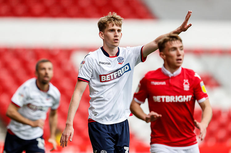 Bolton Wanderers' Harry Brockbank  <br /> <br /> Photographer Andrew Kearns/CameraSport<br /> <br /> The EFL Sky Bet Championship - Nottingham Forest v Bolton Wanderers - Sunday 5th May 2019 - The City Ground - Nottingham<br /> <br /> World Copyright © 2019 CameraSport. All rights reserved. 43 Linden Ave. Countesthorpe. Leicester. England. LE8 5PG - Tel: +44 (0) 116 277 4147 - admin@camerasport.com - www.camerasport.com