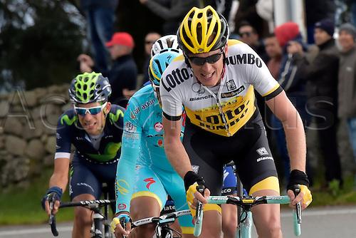 18.02.2016. Lagoa, Algarvem Portugal. Tour of the Algarve, Cycling Tour. Stage 2 Lagoa to Alto Da Foia.  GESINK Robert (NED)  of TEAM LOTTO NL - JUMBO in action