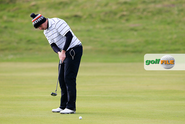 Alan Lowry (Esker Hills) during the second round of matchplay at the West of Ireland, Co Sligo golf club, Rosses Point, Sligo. 16/04/2017.<br /> Picture: Golffile | Fran Caffrey<br /> <br /> <br /> All photo usage must carry mandatory copyright credit (&copy; Golffile | Fran Caffrey)
