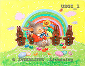 GIORDANO, EASTER, OSTERN, PASCUA, paintings+++++,USGI1,#E# rabbits