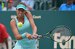 Madison Keys (USA) beats Lucie Hradecka (CZE) 6-1, 6-4 in the semis at the Family Circle Cup in Charleston, South Carolina on April 11, 2015.