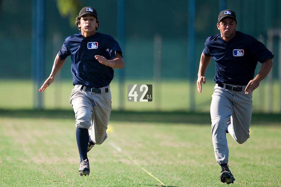 Baseball - MLB Academy - Tirrenia (Italy) - 19/08/2009 - Maxime Lefevre (France), Mirko Caradonna (Italy)