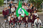 Third class at Fossa NS with Principal Pat Clifford and teacher Rosemary Moynihan who raised the Green Flag on Wednesday front row l-r: Charlie Keating, Sean dineen, Darren Ryan, Philip Ganser, Peader Kelliher, Eddie Moroney, Max Leons. Middle row: Sam Buckley, Ryan O'Leary, Tom Cahillane, Sophie Dennehy, Kelly O'Connor. Back row:  Sophie Walsh, Grace Daly, Zara Clifford, Robert Brooks, Dylan O'Connor, Shea Wheldon, Harry Kelly, Dara O'Brien, Rocco Sheehan, Conor Harty, Charolette O'Shea, Alana Grady, Andrea Rennie, Cian Doyle and Patrick Lyons