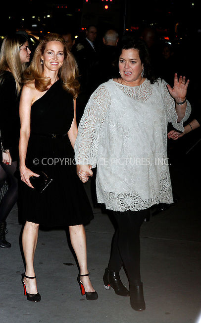 WWW.ACEPIXS.COM . . . . .  ....January 10 2012, New York City....Michelle Rounds and Rosie O'Donnell arriving at the 2011 National Board of Review Awards gala at Cipriani 42nd Street on January 10, 2012 in New York City.....Please byline: NANCY RIVERA- ACE PICTURES.... *** ***..Ace Pictures, Inc:  ..tel: (212) 243 8787 or (646) 769 0430..e-mail: info@acepixs.com..web: http://www.acepixs.com