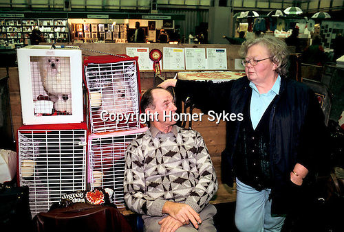 Crufts Dog Show National Exhibition Centre Birmingham. Man in fashionable woollen jumper. 1990s.