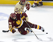 Steven Whitney (BC - 21), Mike Seidel (Duluth - 17) - The Boston College Eagles defeated the University of Minnesota Duluth Bulldogs 4-0 to win the NCAA Northeast Regional on Sunday, March 25, 2012, at the DCU Center in Worcester, Massachusetts.