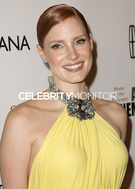 BEVERLY HILLS, CA, USA - OCTOBER 21: Jessica Chastain arrives at the 28th American Cinematheque Award Honoring Matthew McConaughey held at The Beverly Hilton Hotel on October 21, 2014 in Beverly Hills, California, United States. (Photo by Celebrity Monitor)