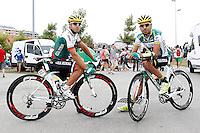 Danail Andonov (l) and Hernani Broco before the stage of La Vuelta 2012 beetwen Santander-Fuente De.September 5,2012. (ALTERPHOTOS/Acero) /NortePhoto.com<br /> <br /> **CREDITO*OBLIGATORIO** *No*Venta*A*Terceros*<br /> *No*Sale*So*third* ***No*Se*Permite*Hacer Archivo***No*Sale*So*third