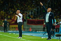 PEREIRA - COLOMBIA, 10-06-2019: Mayer Candelo técnico de Cortulua gesticula durante partido entre Deportivo Pereira y Cortuluá por la final vuelta del Torneo Águila 2019 I jugado en el estadio Hernán Ramírez Villegas de la ciudad de Pereira. / Mayer Candelo coach of Cortulua gestures during second leg final match between Deportivo Pereira and Cotulua for the Aguila Tournament 2019 I played at the Hernan Ramirez Villegas stadium in Pereira city.  Photo: VizzorImage/ Juan Torres / Cont