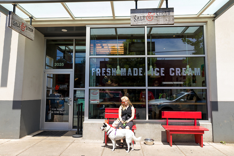 Salt and Straw, a scoop shop ice cream parlor in the Alberta Arts District of Portland, OR, USA