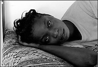A. S.  is seen in her room at Ktziot prison, August 21, 2007.Sudanese refugees who crossed into Israel illegally are seen in Ktiziot Prison in the Negev Dessert in Israel. About 130 women and children are living in the prison and their future is unclear. Israel said on Sunday it would turn away refugees from Sudan enforcing a policy aimed at halting illegal African migration via Egypt. Photo by Quique Kierszenbaum