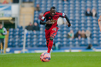 BLACKBURN, ENGLAND - JANUARY 24:  Modou Barrow of Swansea City chases the ball  during the FA Cup Fourth Round match between Blackburn Rovers and Swansea City at Ewood park on January 24, 2015 in Blackburn, England.  (Photo by Athena Pictures/Getty Images)