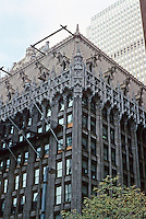 Pittsburgh: Union Trust Building, now Two Mellon Bank Center, 1916. Scaffolding over facade cleaning. Photo 2001.