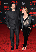 "Adam Driver & Joanne Tucker at the world premiere for ""Star Wars: The Last Jedi"" at the Shrine Auditorium. Los Angeles, USA 09 December  2017<br /> Picture: Paul Smith/Featureflash/SilverHub 0208 004 5359 sales@silverhubmedia.com"